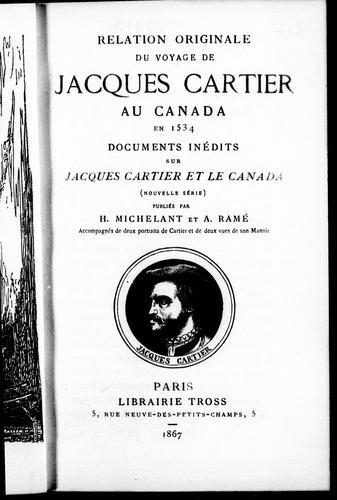 Relation originale du voyage de Jacques Cartier au Canada en 1534