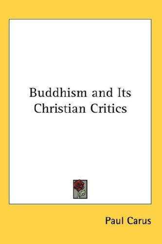 Download Buddhism and Its Christian Critics