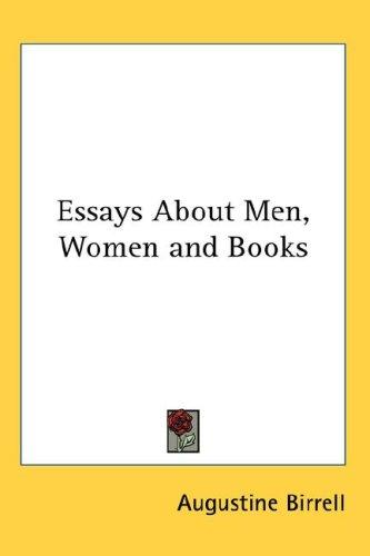 Download Essays About Men, Women and Books