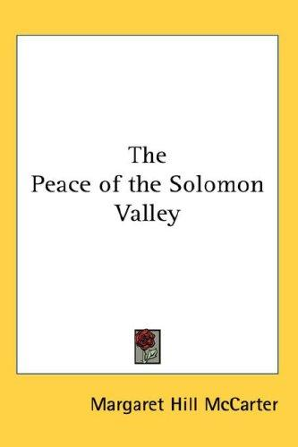 Download The Peace of the Solomon Valley