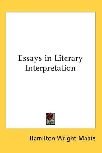 Essays in Literary Interpretation