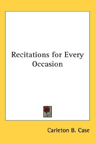Recitations for Every Occasion