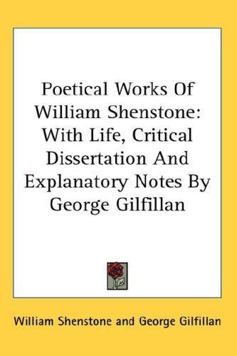 Download Poetical Works Of William Shenstone