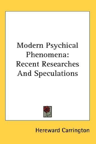 Download Modern Psychical Phenomena