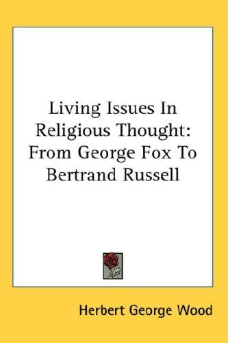 Download Living Issues In Religious Thought