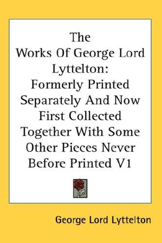 The Works Of George Lord Lyttelton
