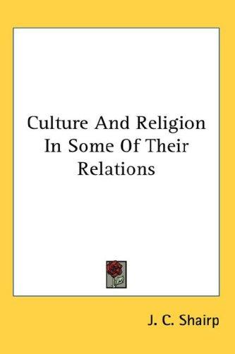 Download Culture And Religion In Some Of Their Relations