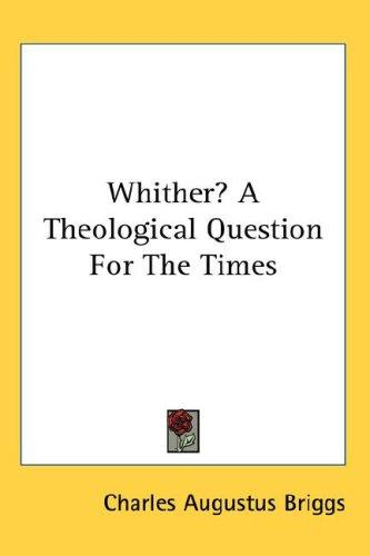 Download Whither? A Theological Question For The Times