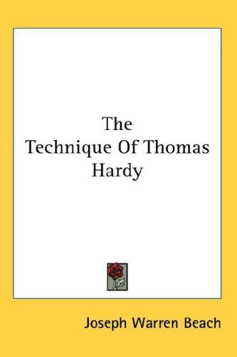 The Technique Of Thomas Hardy