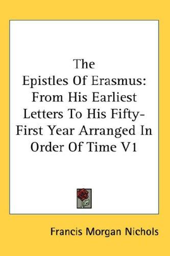Download The Epistles Of Erasmus