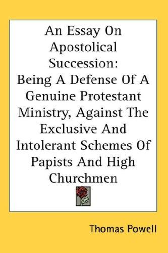 Download An Essay On Apostolical Succession