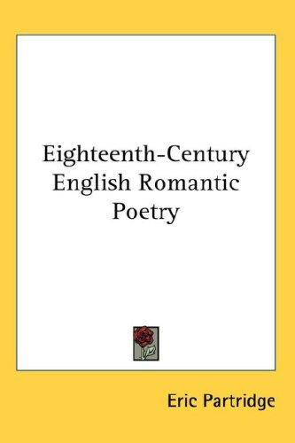 Download Eighteenth-Century English Romantic Poetry