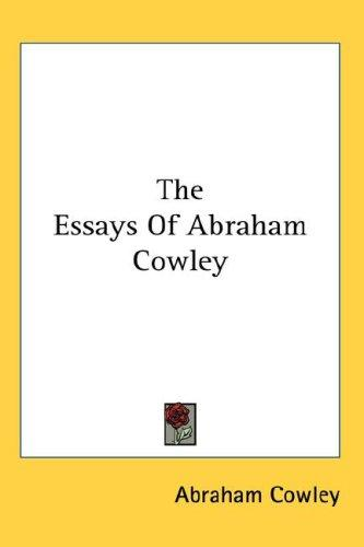 Download The Essays Of Abraham Cowley