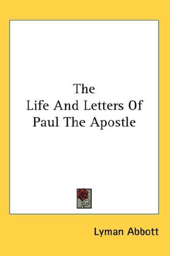 Download The Life And Letters Of Paul The Apostle