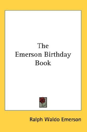 The Emerson Birthday Book