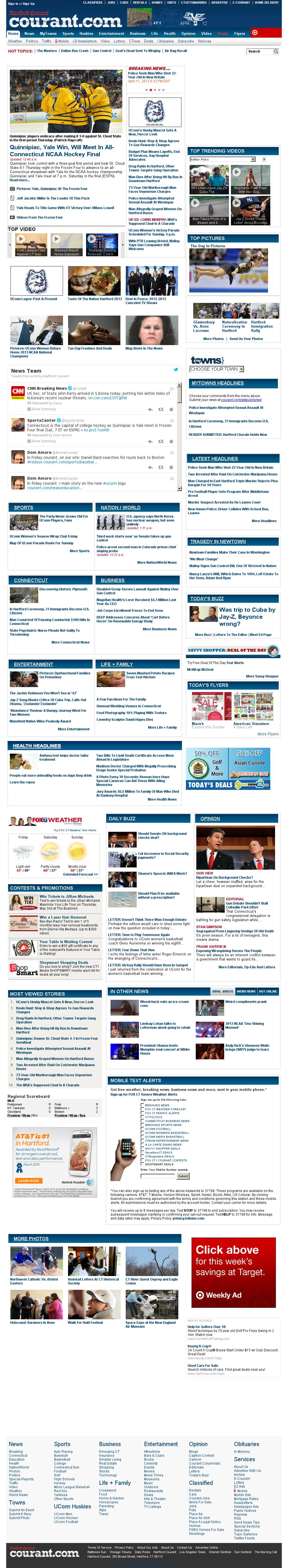 Hartford Courant at Friday April 12, 2013, 7:12 a.m. UTC