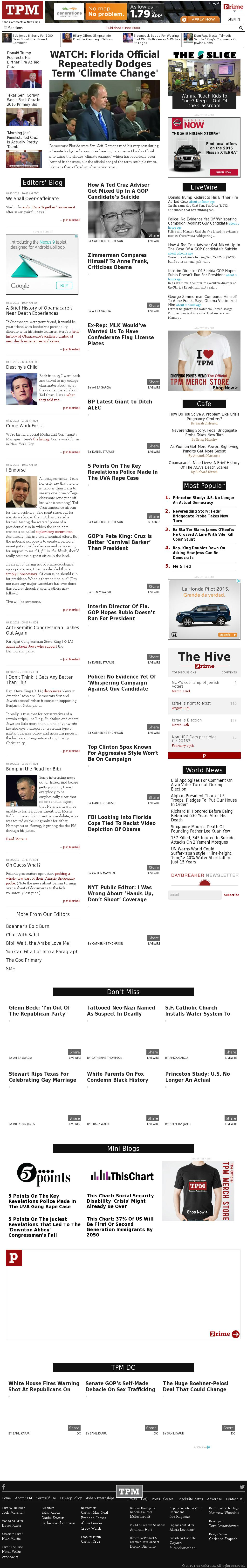 TPM at Monday March 23, 2015, 11:21 p.m. UTC
