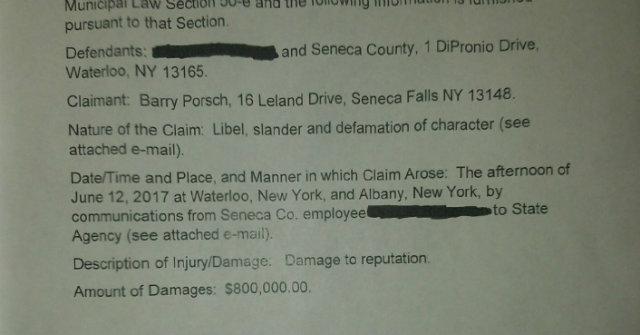UPDATE: Porsch, Sapio respond after notice of claim filed against Seneca County