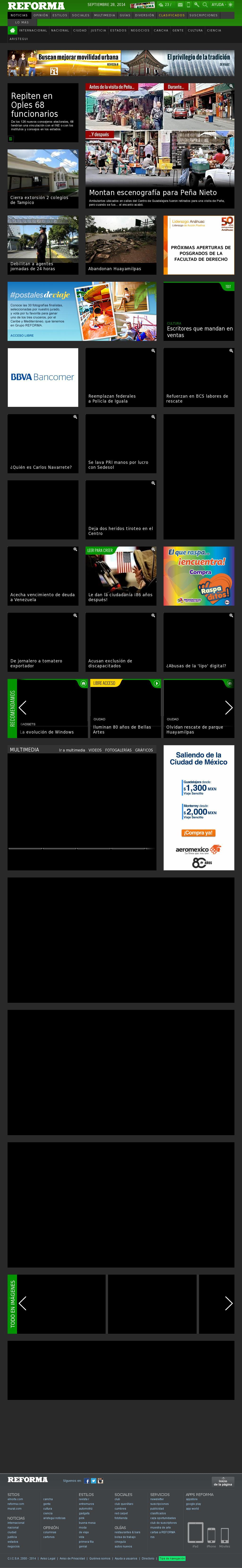 Reforma.com at Sunday Sept. 28, 2014, 11:13 a.m. UTC