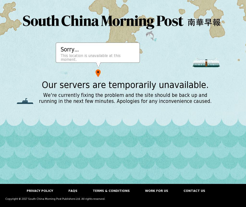 South China Morning Post at Monday Oct. 9, 2017, 6:21 a.m. UTC