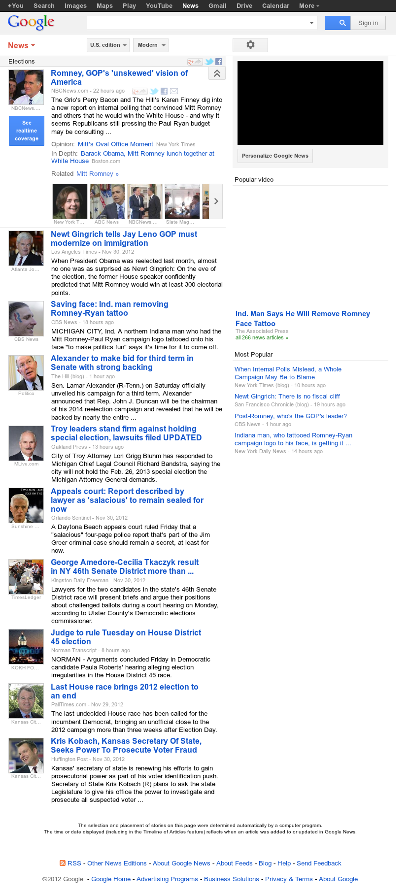 Google News: Elections at Saturday Dec. 1, 2012, 9:11 p.m. UTC