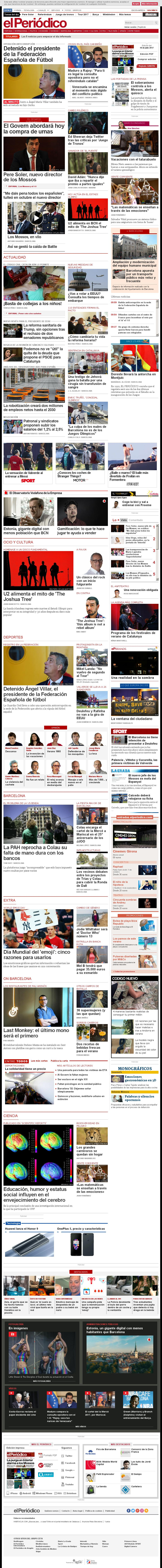 El Periodico at Tuesday July 18, 2017, 8:15 a.m. UTC