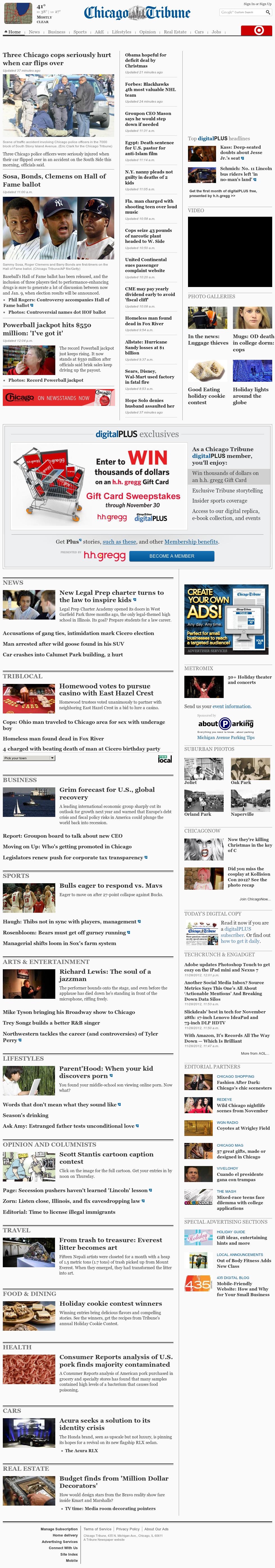 Chicago Tribune at Wednesday Nov. 28, 2012, 7:04 p.m. UTC
