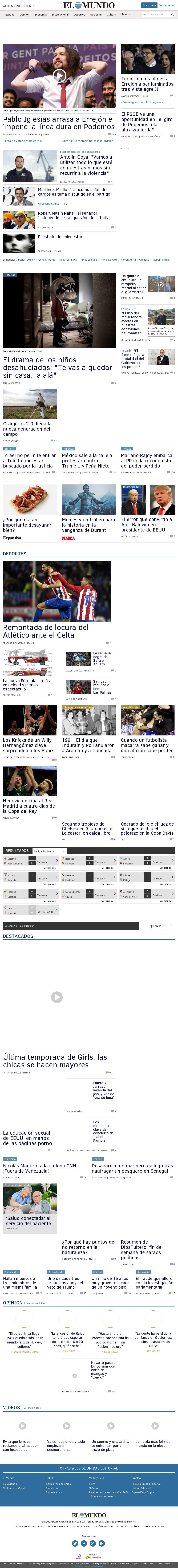 El Mundo at Monday Feb. 13, 2017, 3:10 a.m. UTC