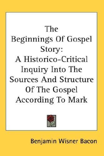 The Beginnings Of Gospel Story